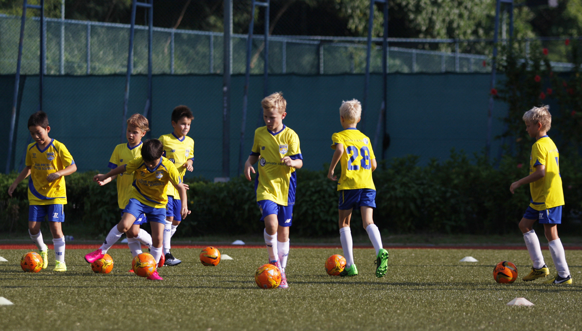Previously the football style we coached was Brazilian. Top soccer skills in Hong Kong -central to our coaching!